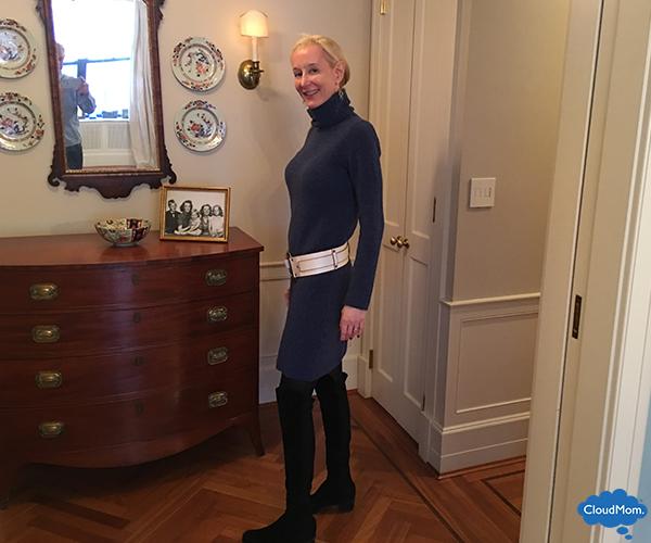club monaco navy sweater dress