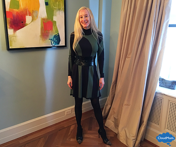 ann taylor dress with tights
