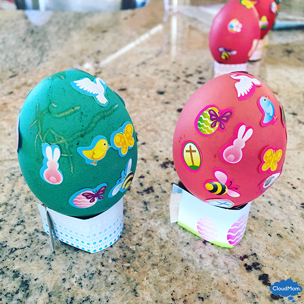 making easter eggs with kids