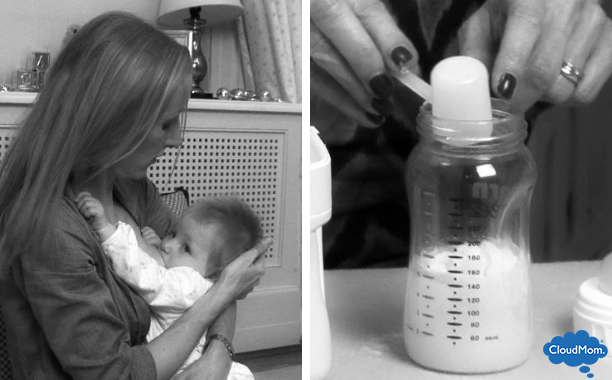 breastfeeding and supplementing with formula