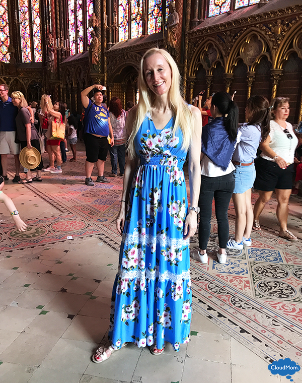 Liu Jo Floral Dress at Sainte-Chapelle