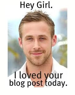 Hey Girl. I loved your blog post today.