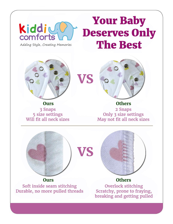 bandana bibs by kiddi comforts