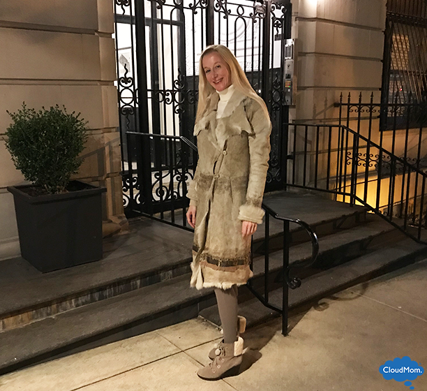 winter look with neutral colors