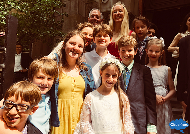 First Communion with family