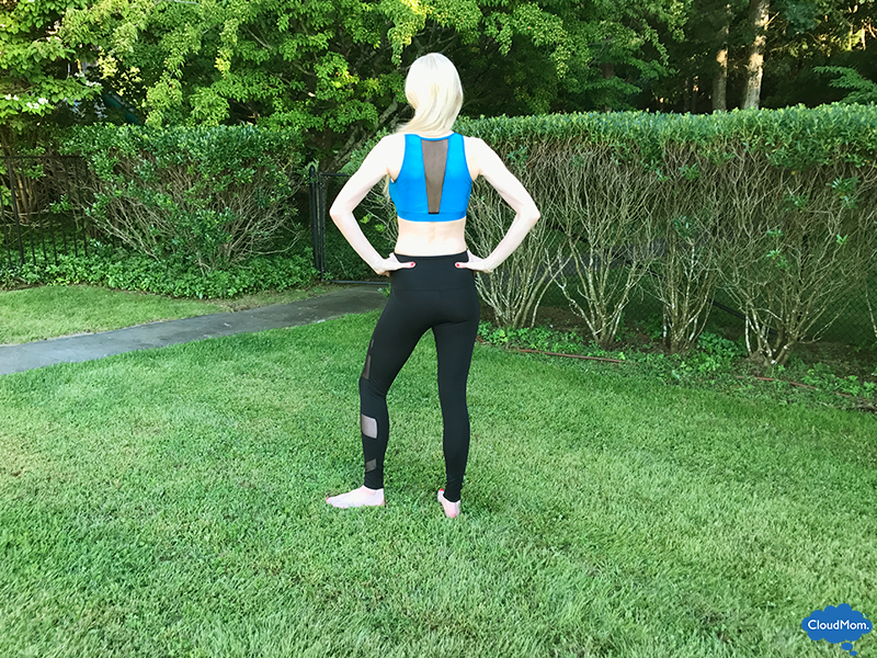 onzie black and blue yoga outfit