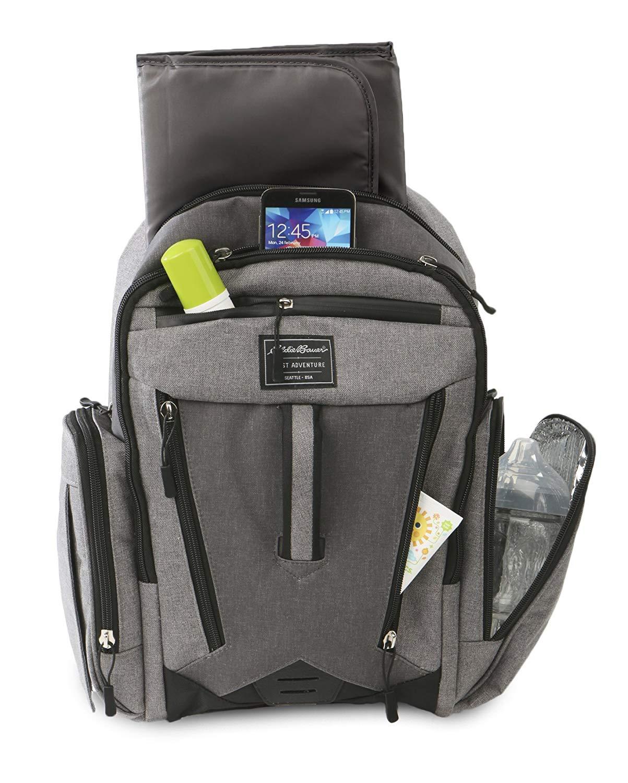 Eddie Bauer Back Pack Diaper Bag in grey