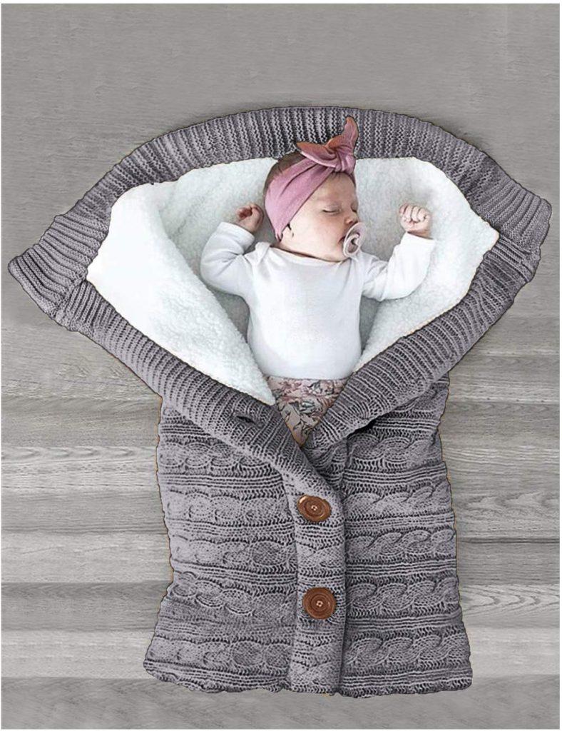 XMWEALTHY Unisex Infant Swaddle Blanket