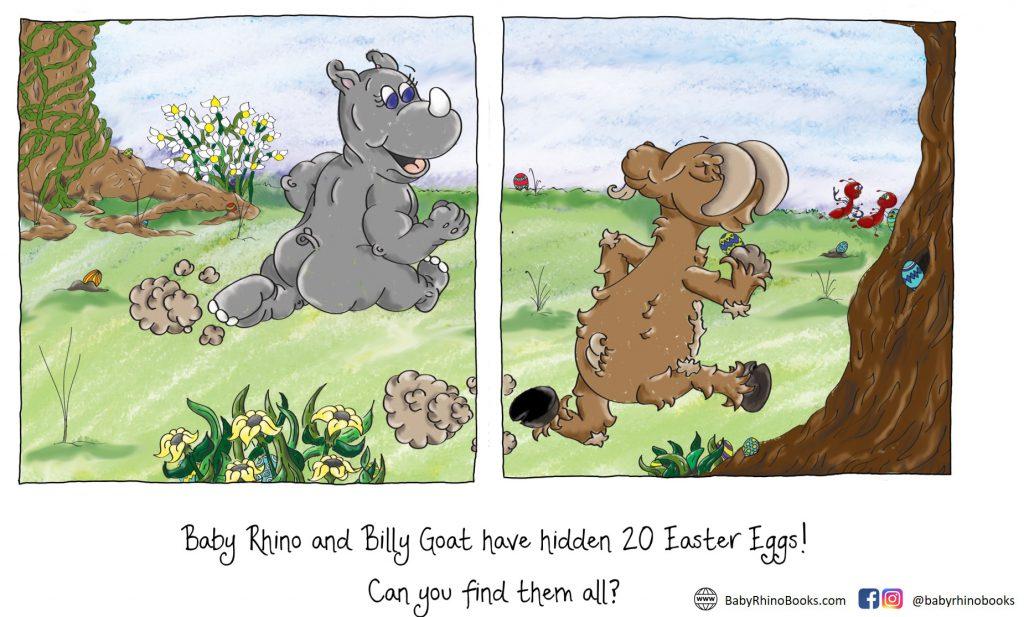Baby Rhino Easter Egg Hunt
