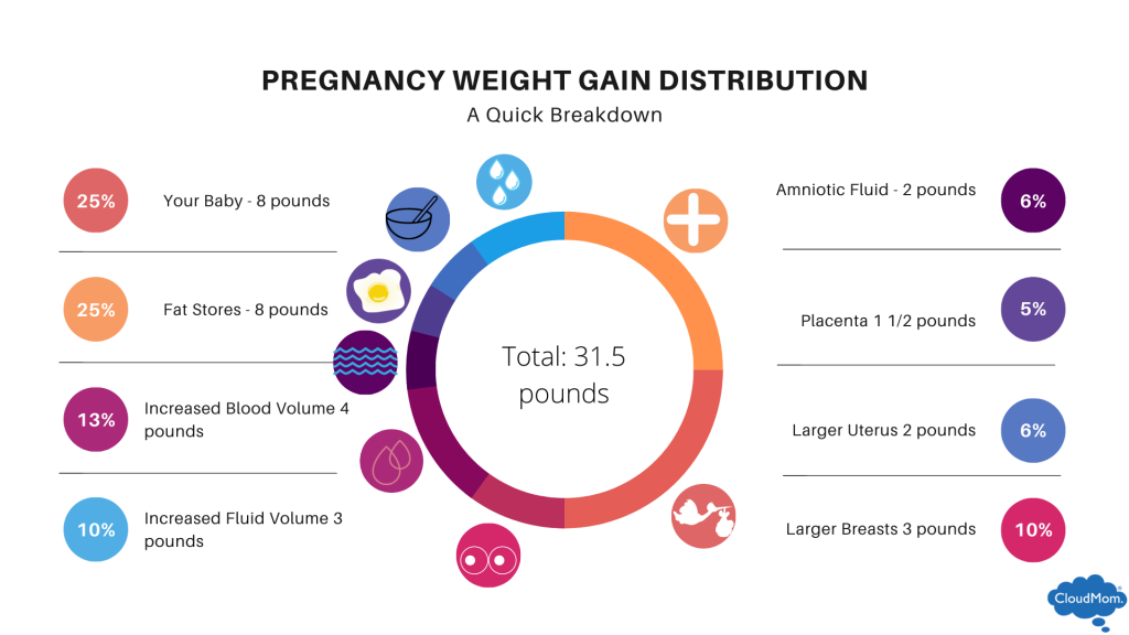 Where is my pregnancy weight gain going? Pregnancy weight gain distribution