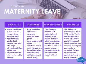 How to prepare and knowing your rights for maternity leave