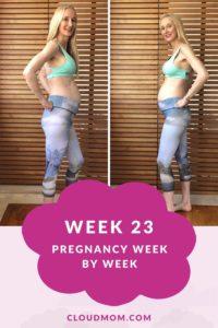 Melissa's Baby Bump, Week 23