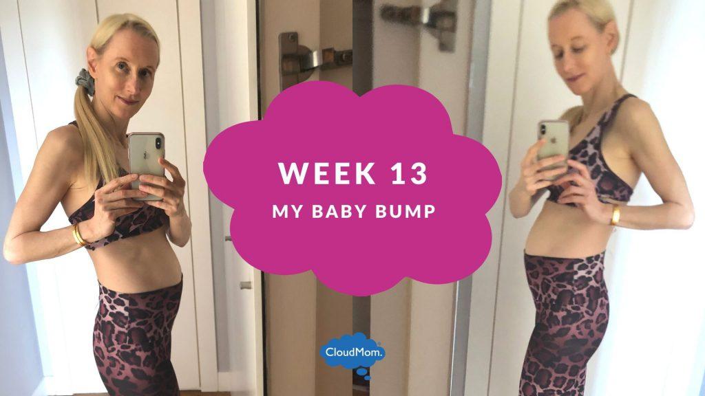 13 weeks pregnant baby bump progression