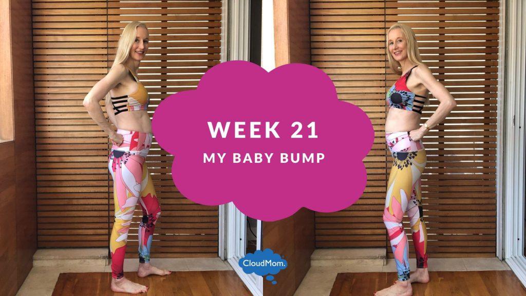 21 weeks pregnant baby bump progression
