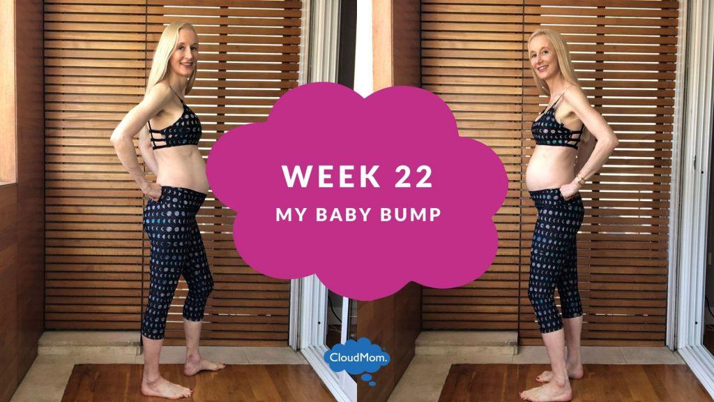 22 weeks pregnant baby bump progression