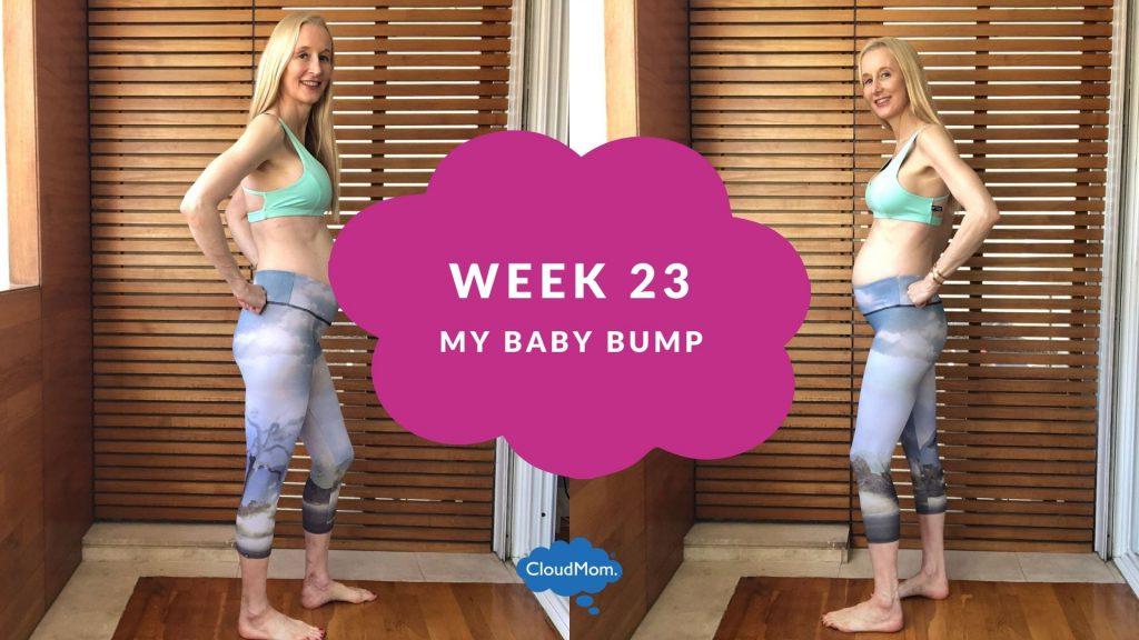 23 weeks pregnant baby bump progression