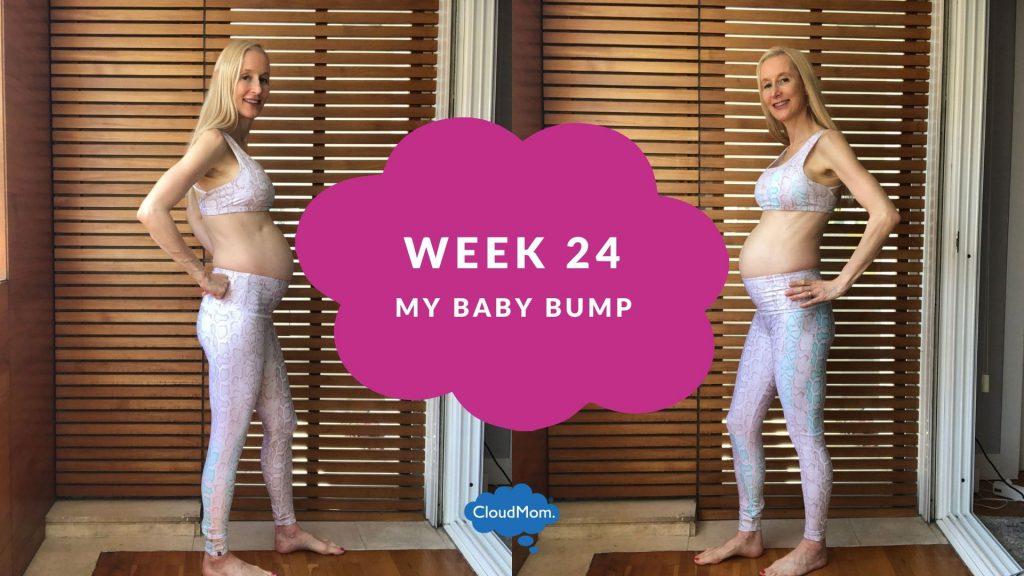 24 weeks pregnant baby bump progression