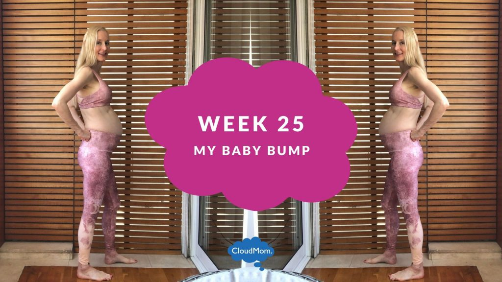 25 weeks pregnant baby bump progression