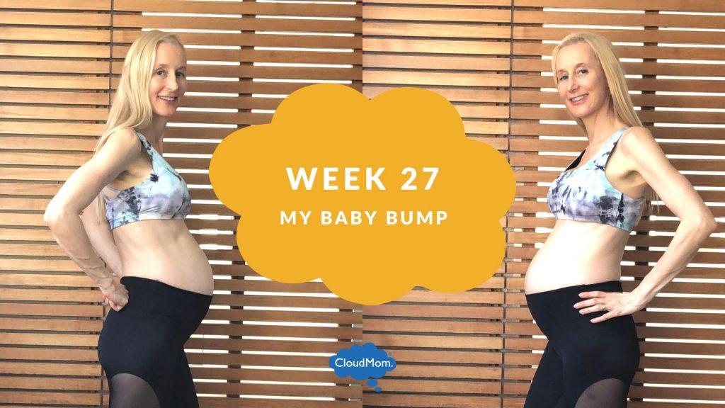 27 weeks pregnant baby bump progression