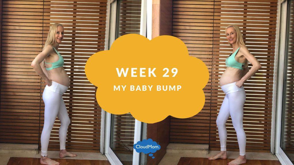 29 weeks pregnant baby bump progression