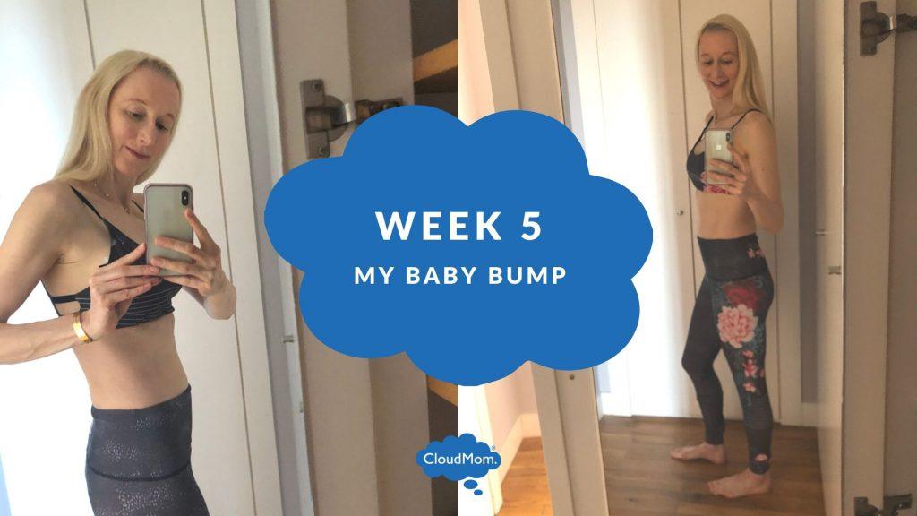 5 weeks pregnant baby bump progression