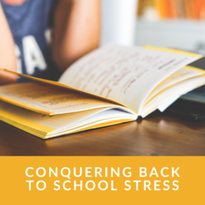 How do you deal with back stress at school?