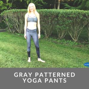 Gray Patterned Yoga Pants