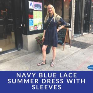 navy blue lace dress midi