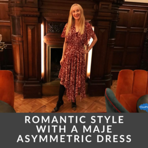 Romantic Style with a Maje Asymmetric Dress