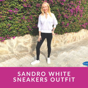 Sandro White Sneakers Outfit