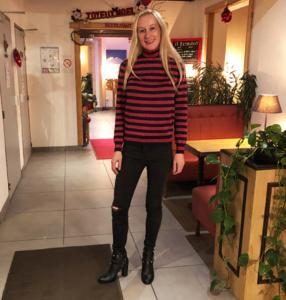 Sparkly J Crew Striped Sweater