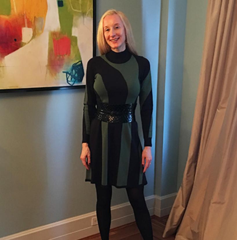 Ann Taylor Striped Dress Outfit