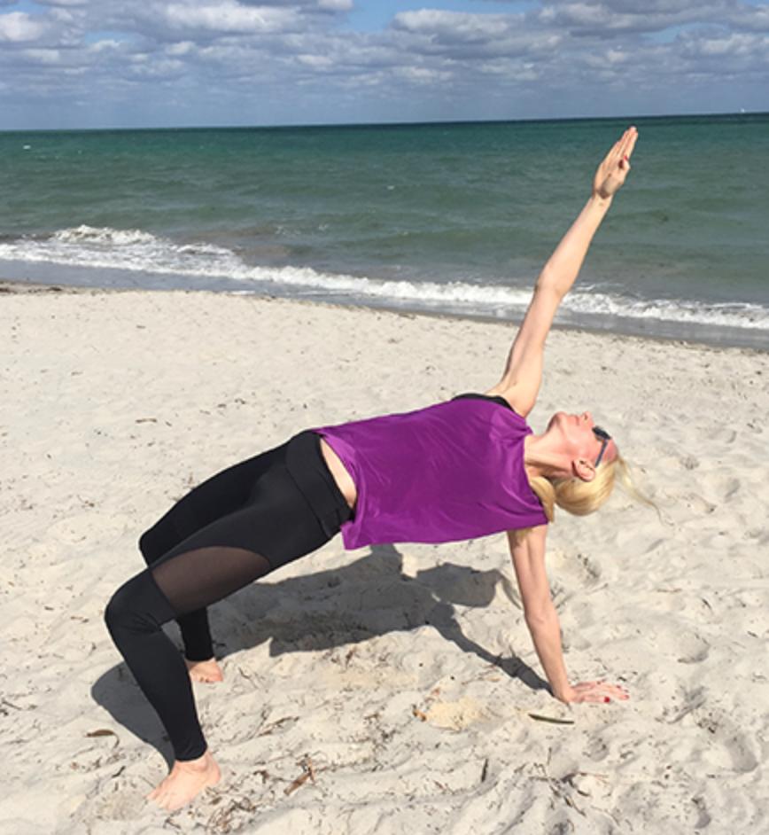 Flip Dog in Onzie Yoga Wear