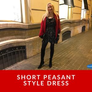 Short Peasant Style Dress