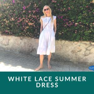 white lace dress midi